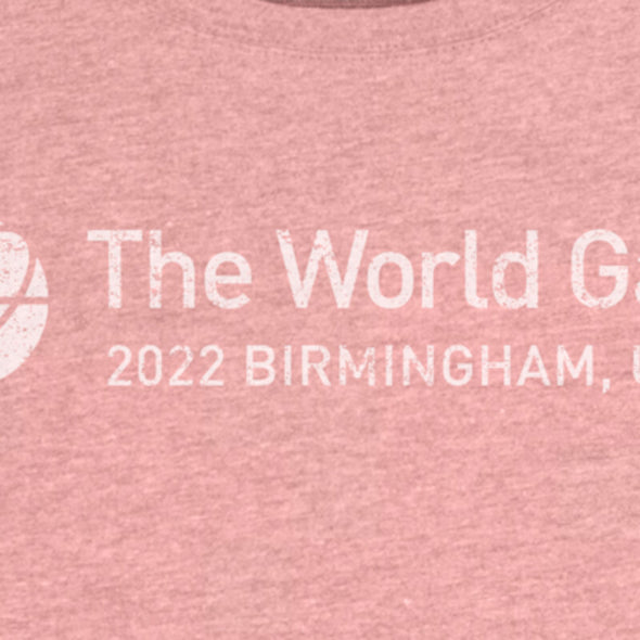 The World Games 2022 Distressed Main Logo Cross Women's Tri-Blend Dolman T-Shirt
