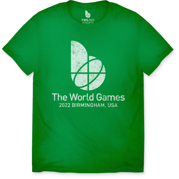 The World Games 2022 Distressed Main Logo Youth Short Sleeve T-Shirt