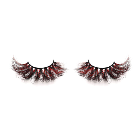 Halloween Farbe Nerz Wimpern CL03
