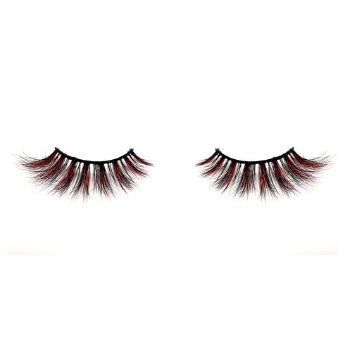 Halloween Farbe Nerz Wimpern CL06