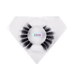 8D Nerz Wimpern Luxuriöse Diamantbox ZS09