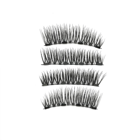 4 Magnets 3D Magnetic False Eyelashes With Quantum Lash Applicator Tool KS01-4