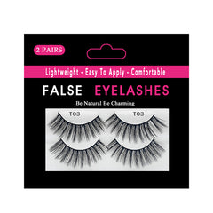 Faux Nerz Flasche Wimpern 2 Paar Pack T03