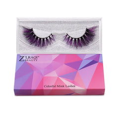 Halloween Farbe Nerz Wimpern CL12