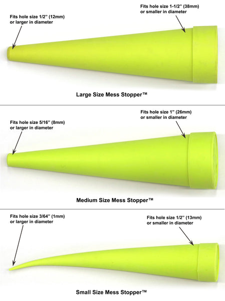 Mess Stopper™, 4 Large, 4 Medium, 8 Small Size, Round