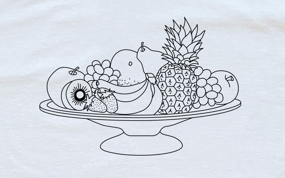 Fruit Platter Coloring Shirt PREORDER
