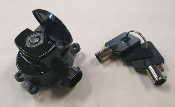 Black Fat Bob Ignition Switch For Harley Big Twin 2012-Later