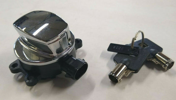 Chrome Fat Bob Ignition Switch For Harley Big Twin 2012-Later