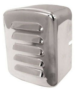 Louvered Vented Chrome Coil Cover Harley Big Twin 4 Spd 1965-Ltr & Softail 84-99