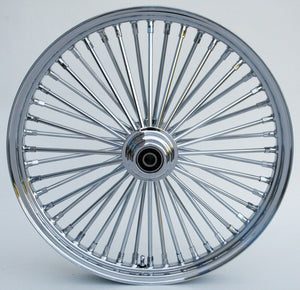 "Chrome Ultima 48 King Fat Spoke 21"" x 3.5"" Front Single Disc Wheel For Harley"