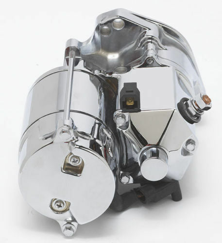 Ultima 1.75kw Chrome Side Post Heavy Duty Starter for Harley Big Twin 89-06
