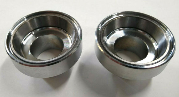 Chrome Front Fork Cups With Races for Harley Big Twin