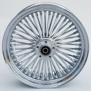 "Chrome & Chrome Ultima 48 King Spoke 16"" x 3.5"" Rear Wheel For Harley & Customs"