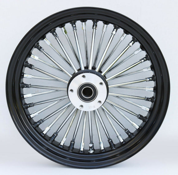 Black & Chrome Ultima 38 King Spoke 16
