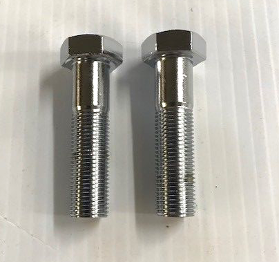 CHROME HANDLEBAR RISER BOLT SET 1/2-20 x 2