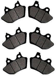 Front & Rear Brake Pad Sets For Harley 00-07 Softail Touring Dyna Sportster