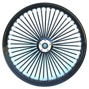 "Black Ultima King Spoke 21"" x 3.5"" Front Dual Disc Wheel Harley Custom"