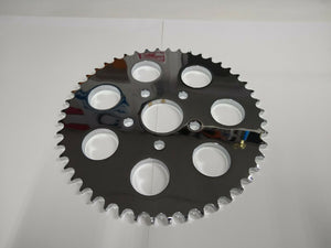 Chrome 48 Tooth Flat Sprocket For XL FXST & FXD 1986/99 W/ 530 Chain