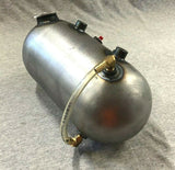 Round Pill Style Side Fill Custom Oil Tank W/ Sight Gauge