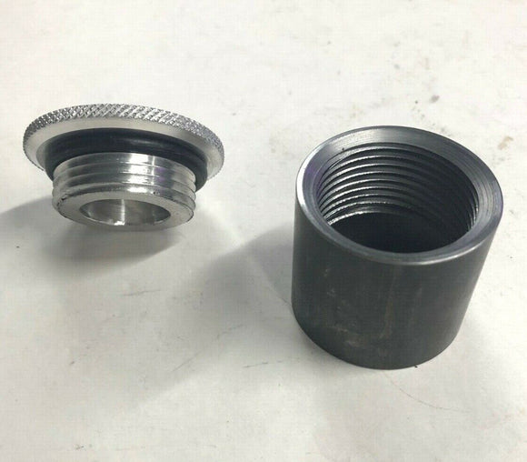 Aluminum Filler Cap With Bung For Oil or Gas Tank