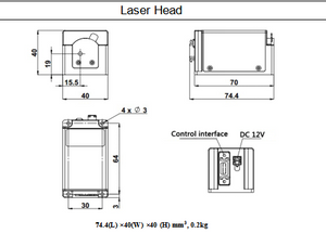 dimensions of laser head