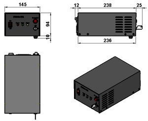 power supply dimensions