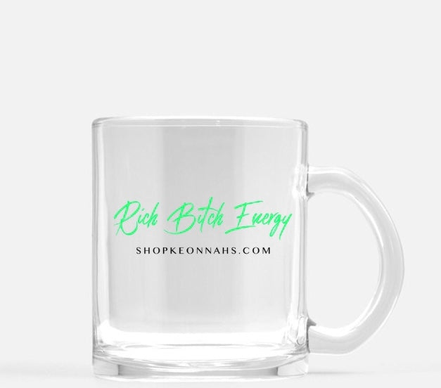 Rich Bitch Energy Glass Mug