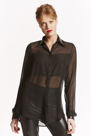 AVA Tall Womens Shirt in Black