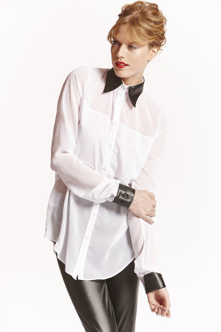 AVA Tall Womens Shirt in White