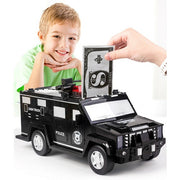Puzzle Police Car Piggy Bank Toy for Child