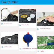 How to install pure boxing inflatable punching bag