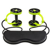 Ab Roller Wheel Trainer With Mat Abdominal Wheel Fitness Arm Waist Leg