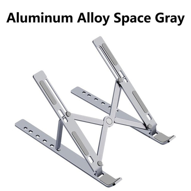 Foldable Aluminium Alloy Laptop Stand for MacBook Space Gray