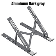 Foldable Aluminum Alloy Laptop Stand Dark Gray