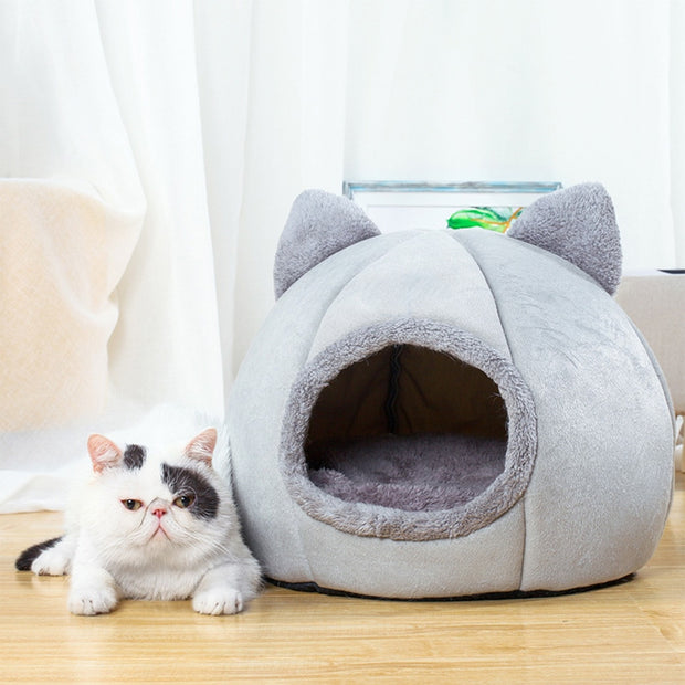 removable warm cat house