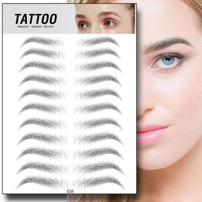 Breathable eyebrow tattoo