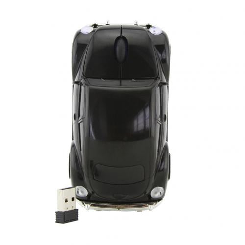 2.4 GHZ Black Volkswagen Beetle Wireless Car Gaming Mouse