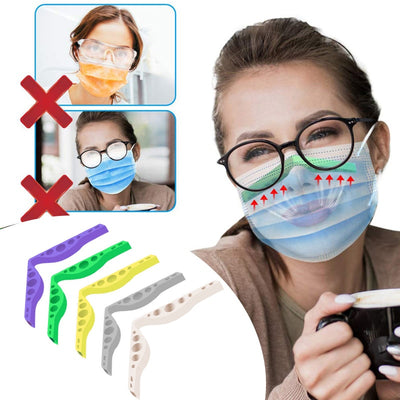 Anti fog nose bridge for face mask