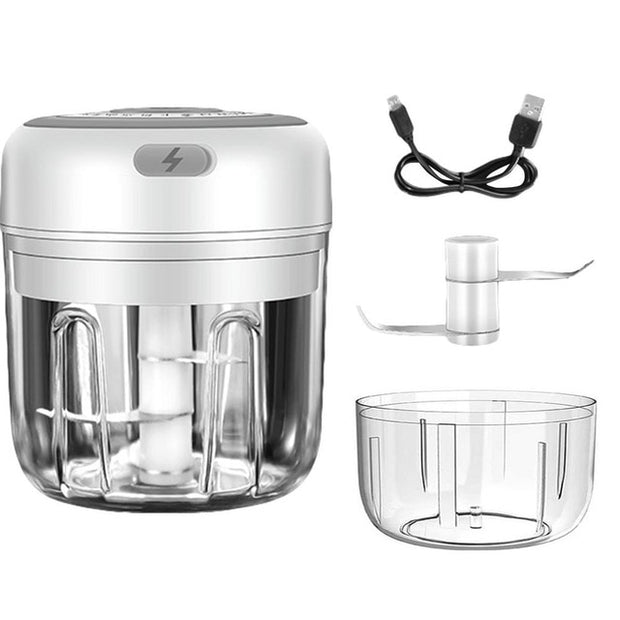 Portable Garlic Blender Mini Chopper Food Processor For Pepper Chili Vegetable Nuts Meat (250ML&100ML)