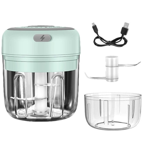 Mini Garlic Chopper, Electric Mincer, Food Dicers, Food Slicer Crusher, Wireless, Rechargeable & Portable