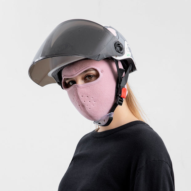 Anti-Fog Winter Mask Pink Color for Women