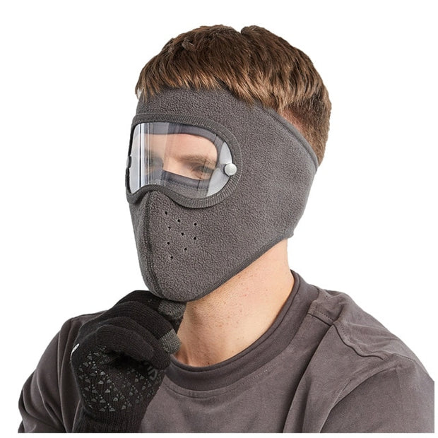 Anti-Fog Winter Mask Gray Color for Men