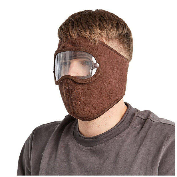 Anti-Fog Winter Mask Chocolate color for Men