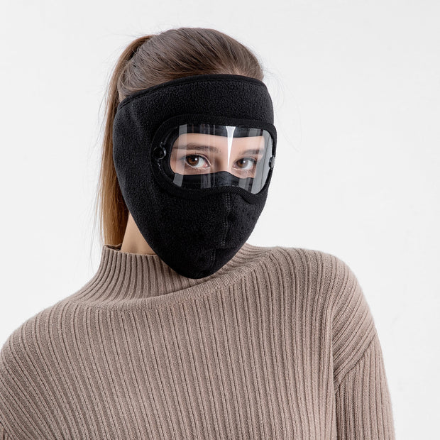 Anti-Fog Winter Mask Black color For Women