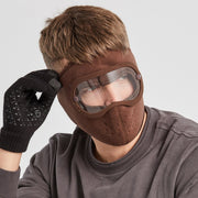 Anti-Fog Winter Mask for Men  chocolate color