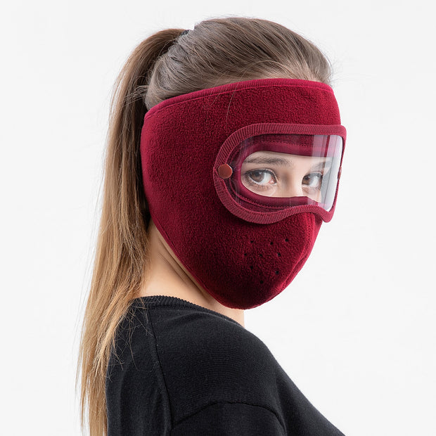 Anti-Fog Winter Mask Burgundy