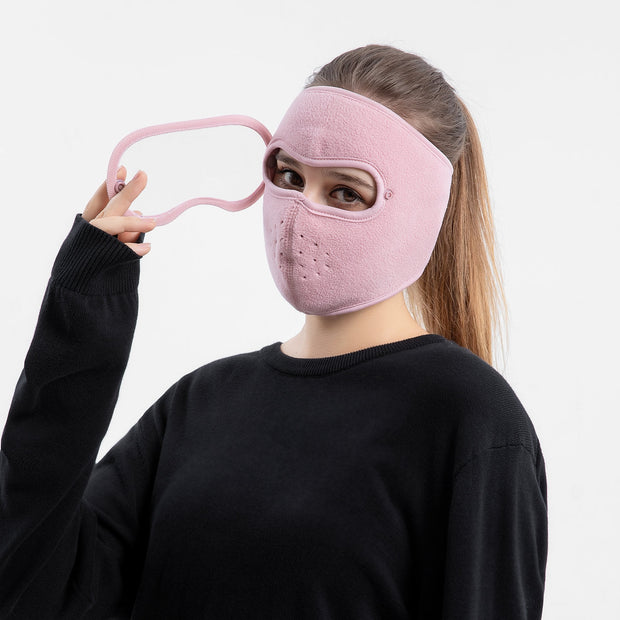 Anti-Fog Winter Mask Pink For Women