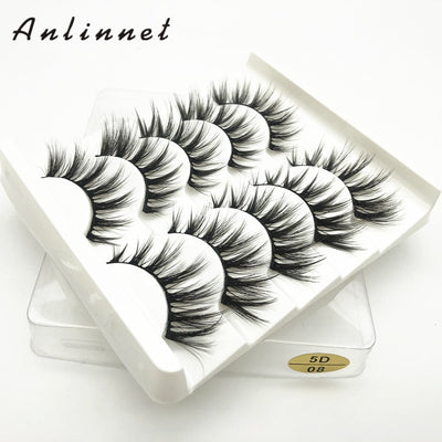 5 Pairs Of 5D Faux Mink Hair False Eyelashes