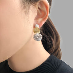 Trio Umbrella Gold & Sliver Sterling Sliver Studs