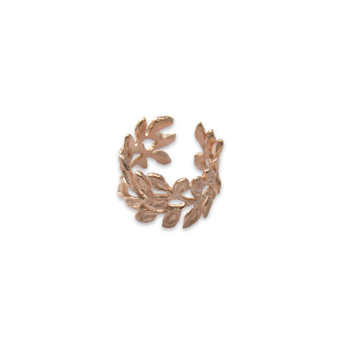 Sequence leaves Rose Gold Sterling Ring